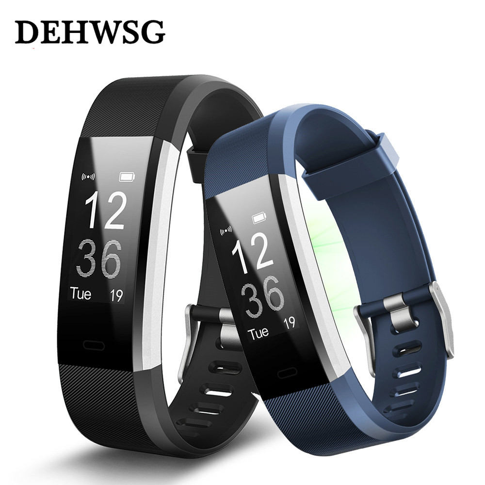 ID115 HR Plus pulsera inteligente rastreador de Fitness de monitor de sueño whatsapp facebook recordatorio alarma reloj PK Fit bit