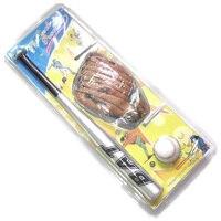 24 Inch Aluminium Alloy Baseball Bat 9# Hand Stitched Exercise Baseball 10.5 Inch PVC Left Hand Baseball Glove For Children