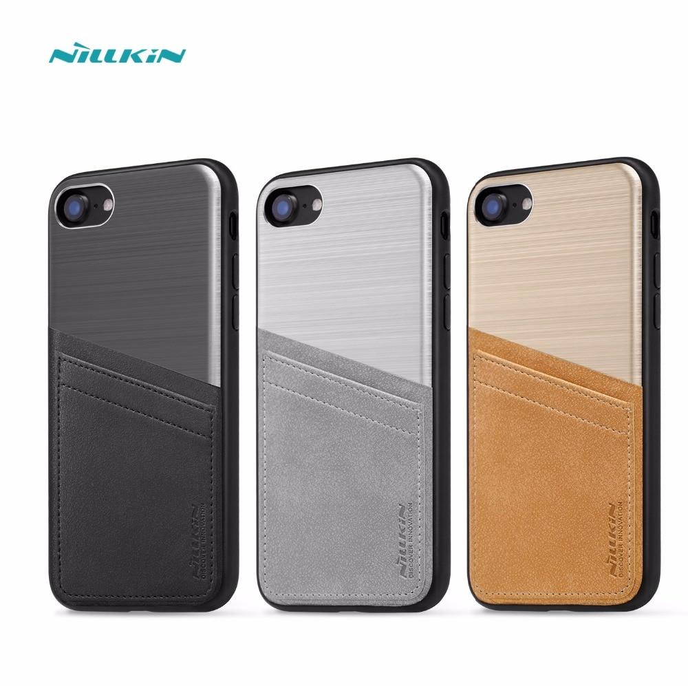 imágenes para Cubierta de nillkin para el iphone 7 case (4.7 '') pc + tpu case y pu billetera de cuero de bolsillo de la vendimia tarjeta de ranura para iphone7 case bolsas móvil