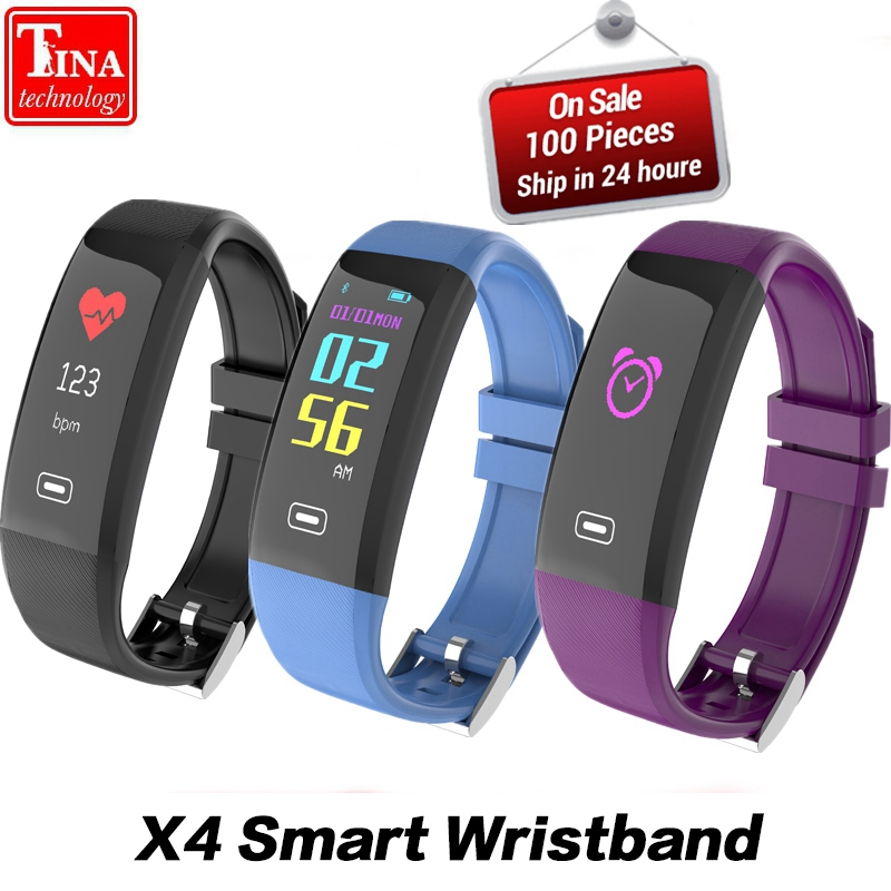 Original Color LCD Screen Heart Rate X4 VS Z4 Smart Bracelet Blood Pressure Monitor Bluetooth Sport Wristband for IOS Android