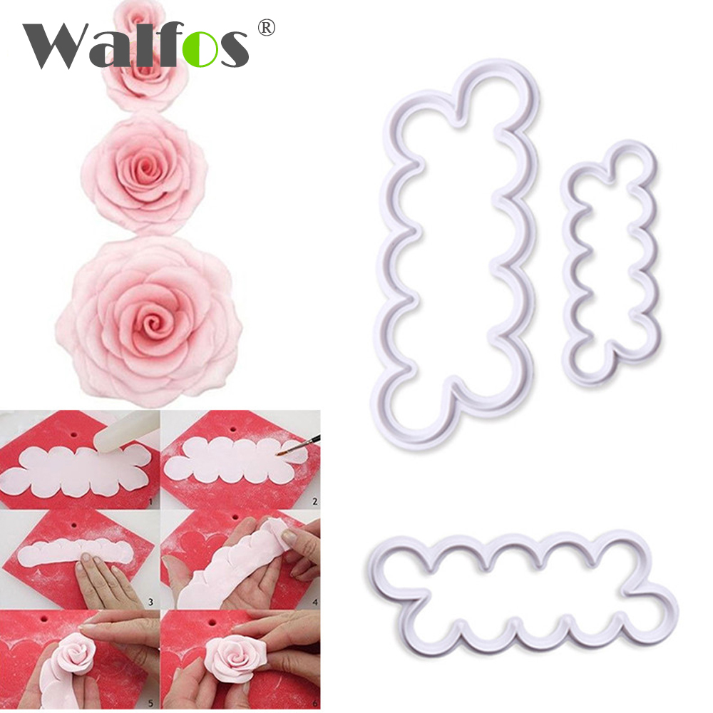 3 unids/set rose flower fondant cake decorating sugarcraft cortador de la gallet