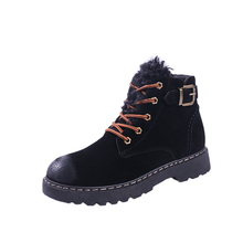 Mid Cut Winter Female Walking Shoes Keep Warm Fur Sneakers Women Black calcados feminino Outdoor Woman Shoes Snow Boots Regata