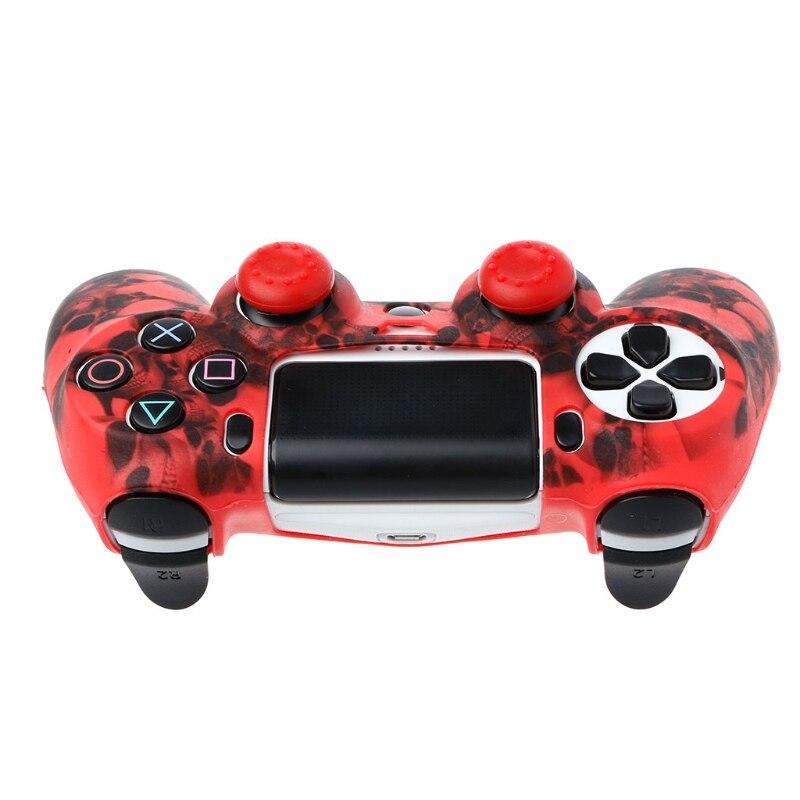 Череп силиконовый защитный чехол для джойстика чехол + 2 Джойстик Крышки для PS4 Pro Slim контроллер