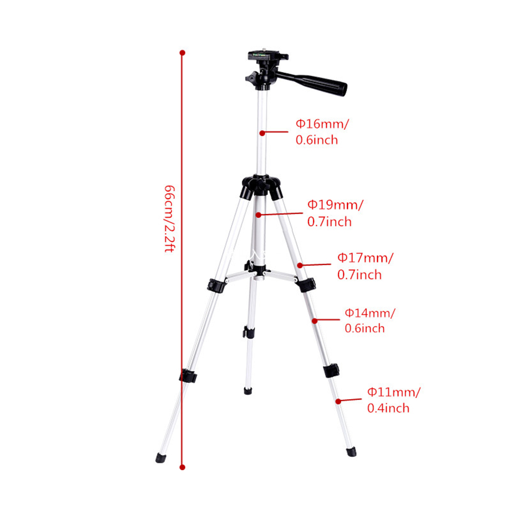 Aluminum Professional Telescopic Camera Tripod Stand Holder For Digital Camera Camcorder Tripod For iPhone Samsung Smart