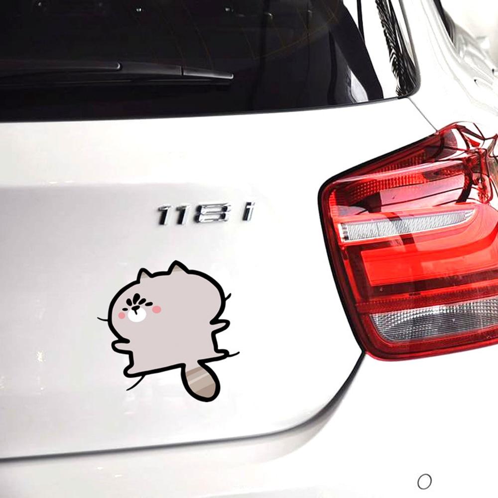 Car Sticker Cartoon Doraemon Hello Kitty Chopper Minion Seize The Body Funny Car Accessories for Ford Focus Vw Polo Golf Skoda