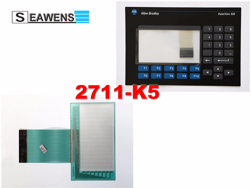 2711-K5A10 touch screen + membrane (2711-K5) keypad for Allen-Bradley HMI 2711K5A10, FAST SHIPPING amt98439 amt 98439 hmi industrial input devices touch screen panel membrane touchscreen amt 4pin 10 4 inch fast shipping