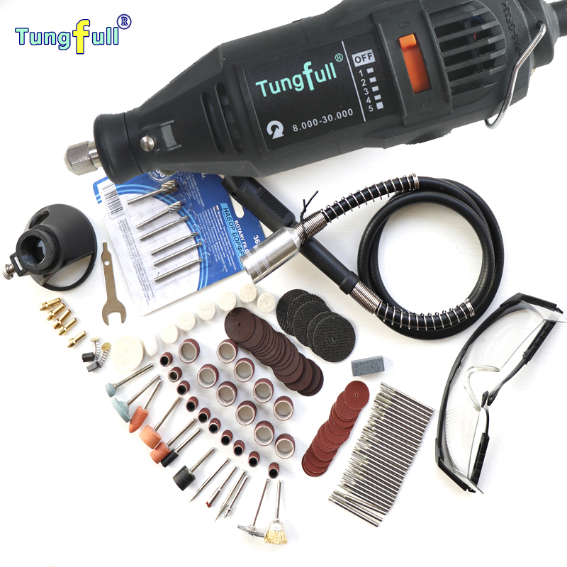 220V/110V 130W Style Electric Rotary Tool Variable Speed Mini Drill with Flexible Shaft and 151PC Accessories Power Tools  tungfull 130w dremel style electric rotary tool variable speed mini drill with flexible shaft and 124pc accessories power tools