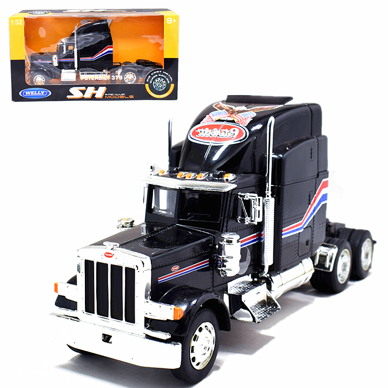 Newray 1:32 International 9900i Diecast Truck Trailer Model New Blue