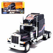Welly 1:32 Peterbilt 379 Semi Traktor Diecast Metal Model Hitam Biru Putih Merah Baru Dalam Kotak(China)