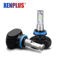 Xenplus h11 h8 h9 Car Led headlight 9005 HB3 9006 HB4 H13 H4 H7 H1 CSP Chips 8000lm 6500k 50W Conversion Kit All In One fog lamp(China)