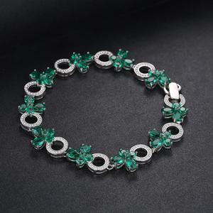 Image 2 - JewelryPalace פרפר צורת 6.8ct נוצר אמרלד טניס צמיד לנשים 925 סטרלינג תכשיטי כסף בסדר תכשיטי מתנה הטובה ביותר