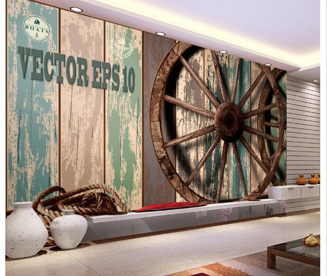 Angepasst 3d Tapete 3d Tv Wand Papier Wandmalereien Farbe Rad Einstellung Wand Bord Tapete Rheuma Lindern