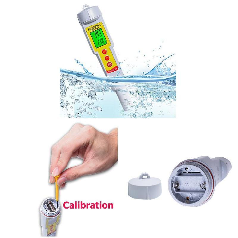 Digital Water Quality ORP Meter Temperature Redox Tester Aquarium Thermometer Probe Swimming Pool Sewage Detection --M25 az 8891 digital wall mounted waterproof thermometer w long probe boiler water temperature meter tester