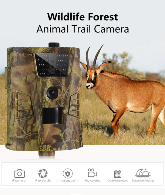 Wildlife Trail Camera HT001B Infrared Night Vision Hunting Cameras 12MP Outdoor Wild Surveillance Tracking 5