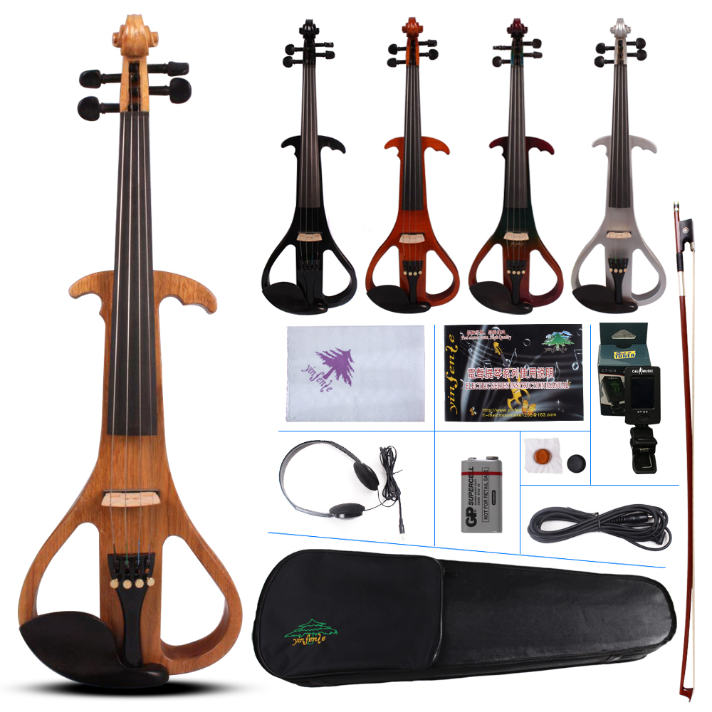 4 string electric violin electric guitar shape Violin Bow Case Big jack Yinfente4 string electric violin electric guitar shape Violin Bow Case Big jack Yinfente