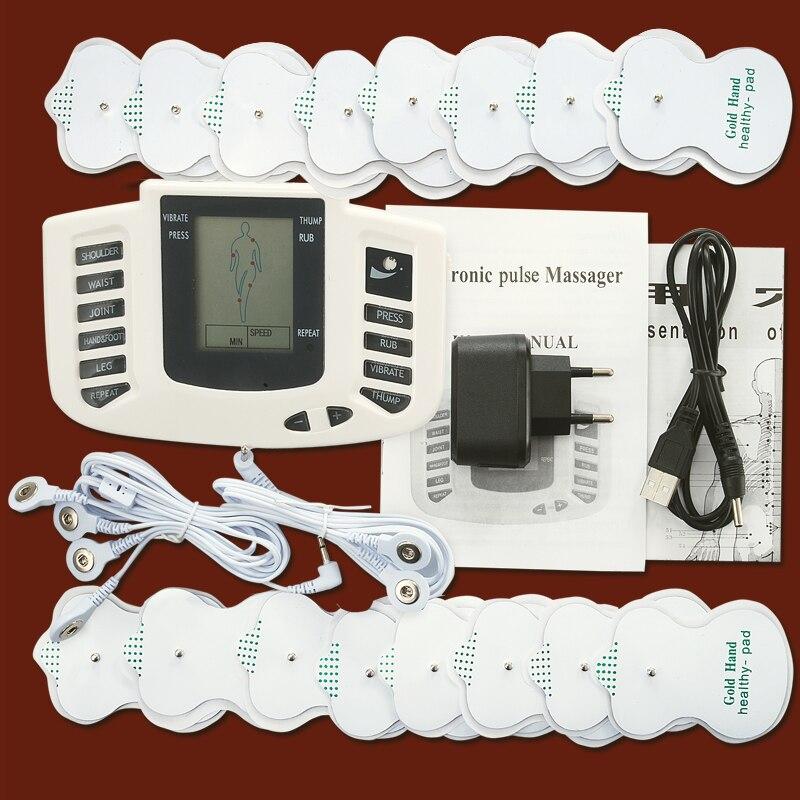 Tens Ems Massager Electro Stimulation Muscle Stimulator Electrostimulator Fisioterapia Physiotherapy Machine 16 Pads(China)
