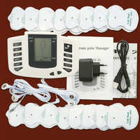 Tens ems massager electro stimulation muscle stimulator electrostimulator fisioterapia physiotherapy machine 16 pads