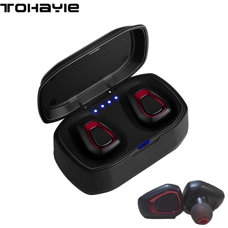 ToHayie A7 TWS Vrai Sans Fil Écouteur Casque Auriculares Bluetooth Casque Écouteur Avec Micro PC Mini Portable Écouteurs Écouteur