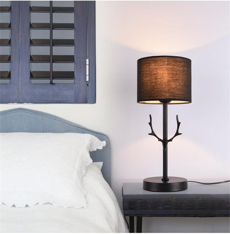 Нордическая черная настольная современная лампа светодиодный рога настольная лампа для спальни прикроватная лампа для учебы в отеле Рождественские украшения для домашнего декора - 3