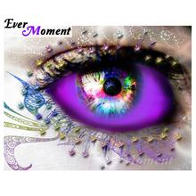 Ever Moment Diamond Painting Eye Colorful Full Square Drill 5D DIY Diamond Embroidery Home Decoration Rhinestone Mosaic S2F009