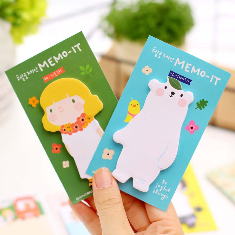 Portable Scratch Paper Scrapbooking Notepad Memo Stationary Notes Cute Pad Scratchpad Post Sticky Students School Supplies