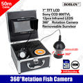 "Free shipping!50M/164ft CCD 7"" LCD IR 360 degree Rotation Fish Finder Underwater DVR Camera for Kids Swimming"