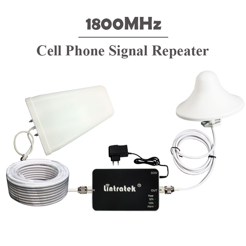 ФОТО Lintratek 1800MHz Signal Repeater ALC 4G LTE 1800 Cell Phones Signal Booster 65dbi Repetidor De Sinal Celular 1800 MHz Full Kits