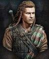 O Envio gratuito de 1/10 Escala Resina Busto William Wallace