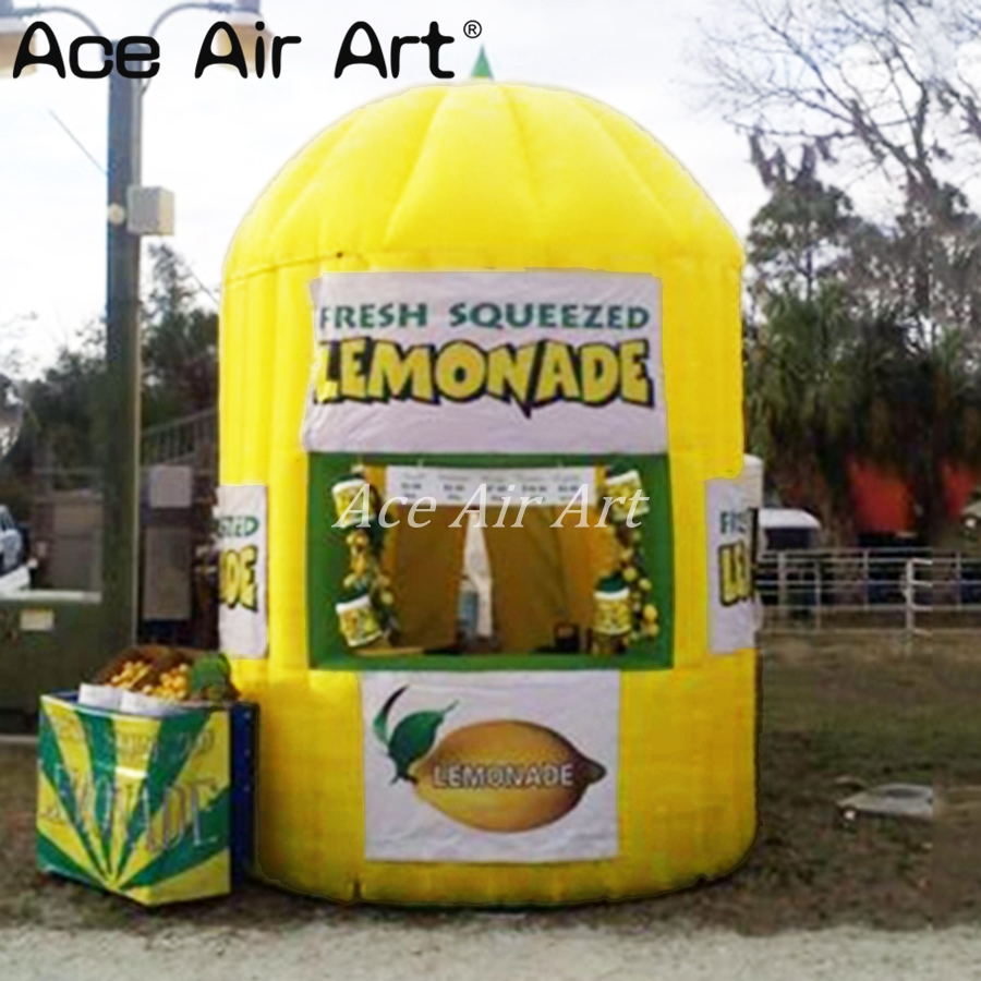 Customized Inflatable Lemonade Sale Stand Booth,lemon Shopboard,concession Kiosk Stall/vendor Drink Space For Lemon Promotion Outdoor Fun & Sports Toy Tents
