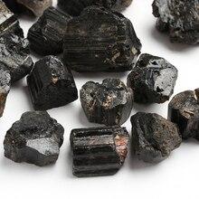 50 г/упак. натуральный черный турмалиновый кристалл драгоценный камень коллекционные вещи грубый камень минеральный с лечебным действием, образцы камня домашний декор