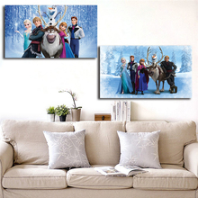 Movie Snow Queen Elsa Anna Olaf Kristoff Sven Art Canvas Poster Painting Wall Picture Print Home Bedroom Decoration Accessories
