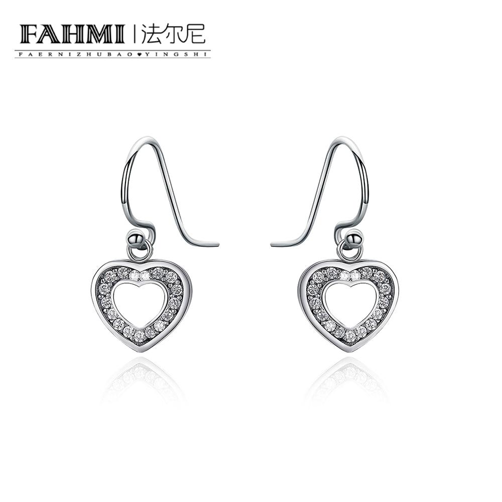 FAHMI 1pcs 925 Sterling Silver Dazzling Droplets Hanging Earrings -  DIY Charms Earrings Free Mail 0