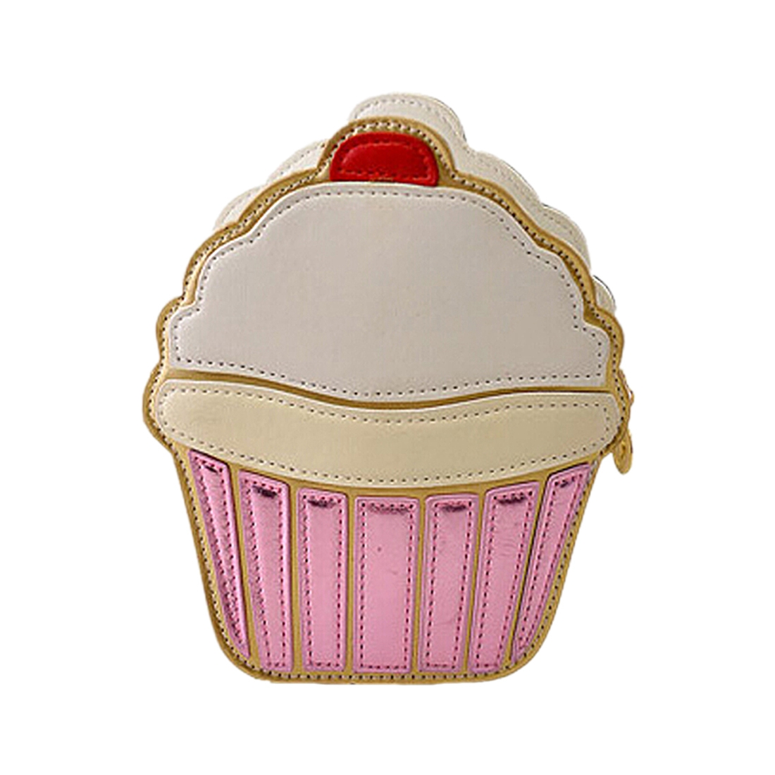 VSEN Hot New Cute Cartoon Women Ice cream Cupcake Mini Bags PU Leather Small Chain Clutch Crossbody Girl Shoulder Messenger ba