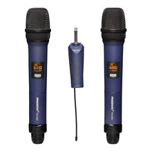 Металлический ручной микрофон FREEBOSS, вечерний беспроводной микрофон для караоке с 2 полосным многофункциональным передатчиком и камерой