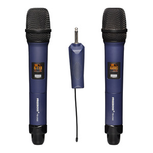 Image 1 - Freeboss FB U322 2 way multi freqüência de metal handheld transmissor câmera microfone festa karaoke microfone sem fio