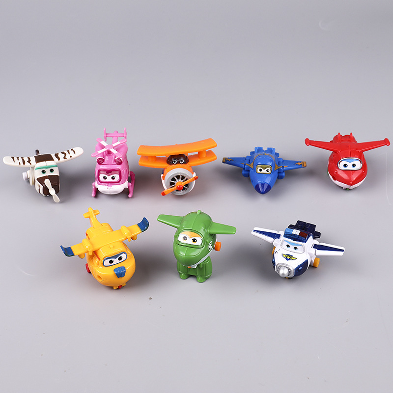 Image 2 - 5/8 Pcs/set MINI Anime Super Wings Model Mini Planes toy Transformation Airplane Robot Action Figures superwings-in Action & Toy Figures from Toys & Hobbies