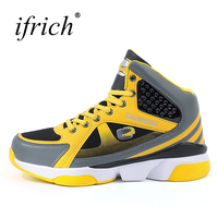 Basketball Shoes For Men Yellow Red Shoes Sport Mens Shockproof Man Athletic Sneakers New Arrival Men