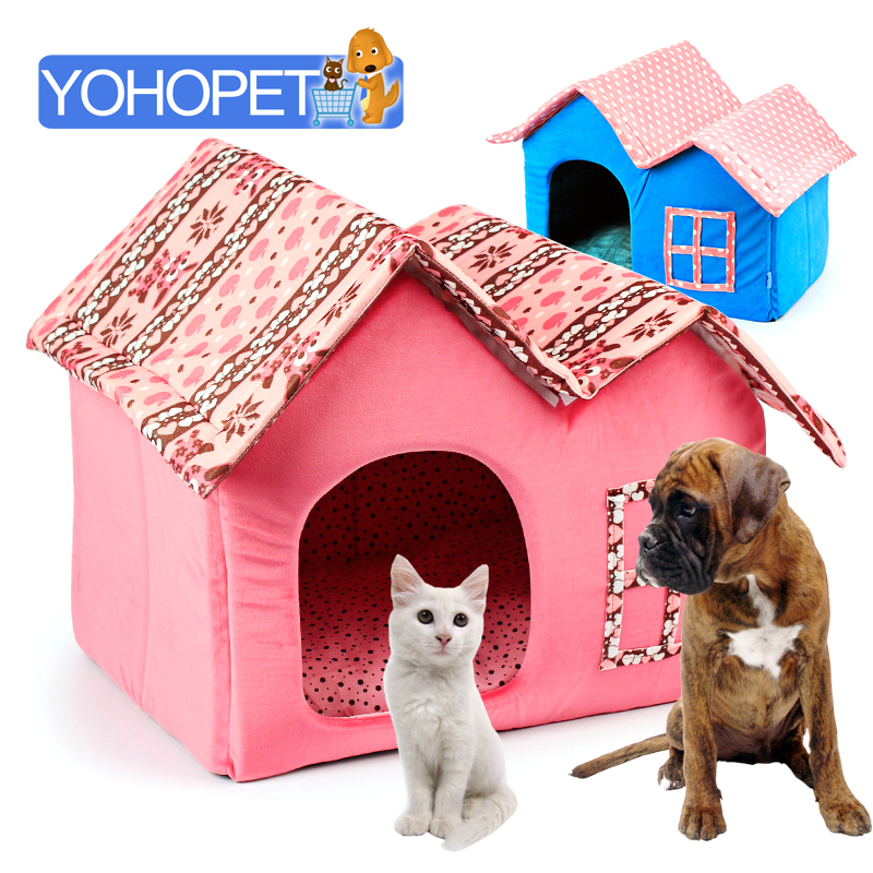 Winter kennel hand wash removable cover beds for small Dog house sofa