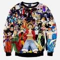 Harajuku Style Japanese Anime One Piece Monkey D Luffy/Pokemon/Naruto/Dragon ball Goku 3d Sweatshirt Hoodies Pullovers Outerwear