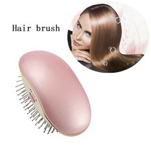 Mini electric ionic hair brush Massage scalp anti-static portable Hair Magic Beauty Brush Comb Home Travel Using