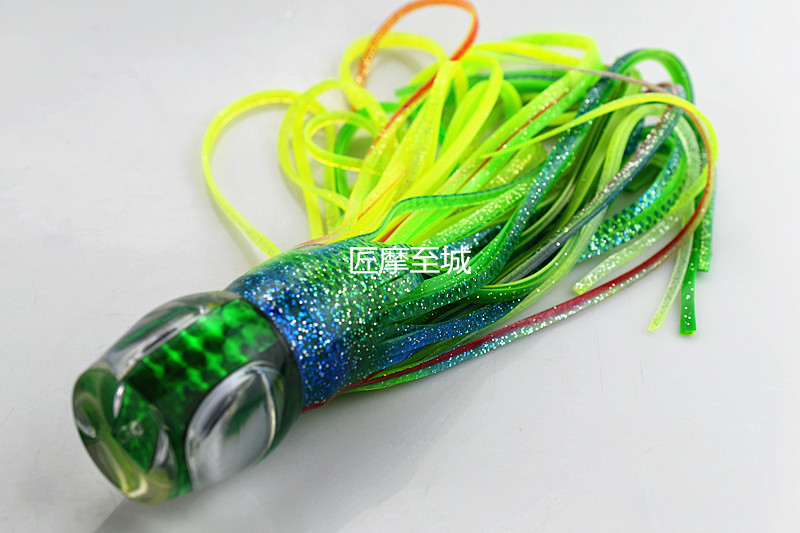 Fishing Trolling Tuna Soft Skirt Lure Octopus Big Game Fishing Marlin Tuna fishing lure 32CM free shipping 8 5 inch octopus lure double octopus skirt resin head with hook line fishing tackle suit cheap fishing package