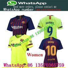 64819c18b87 LISM2019 Barcelonasa women Soccer shirts MESSI INIESTA PIQUE SUAREZ  COUTINHO home away female football shirts S