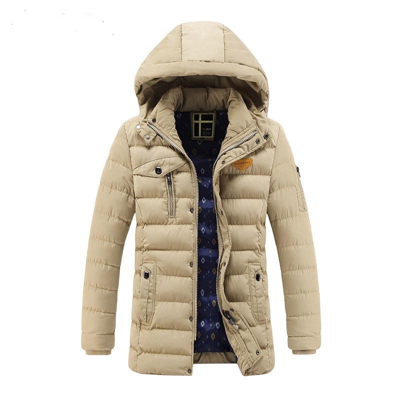 ФОТО Leisure Coat Thickened Solid Color Hooded Jacket Slim 2016 New Winter Men'sfashion Men Warm Coat Fur Collar