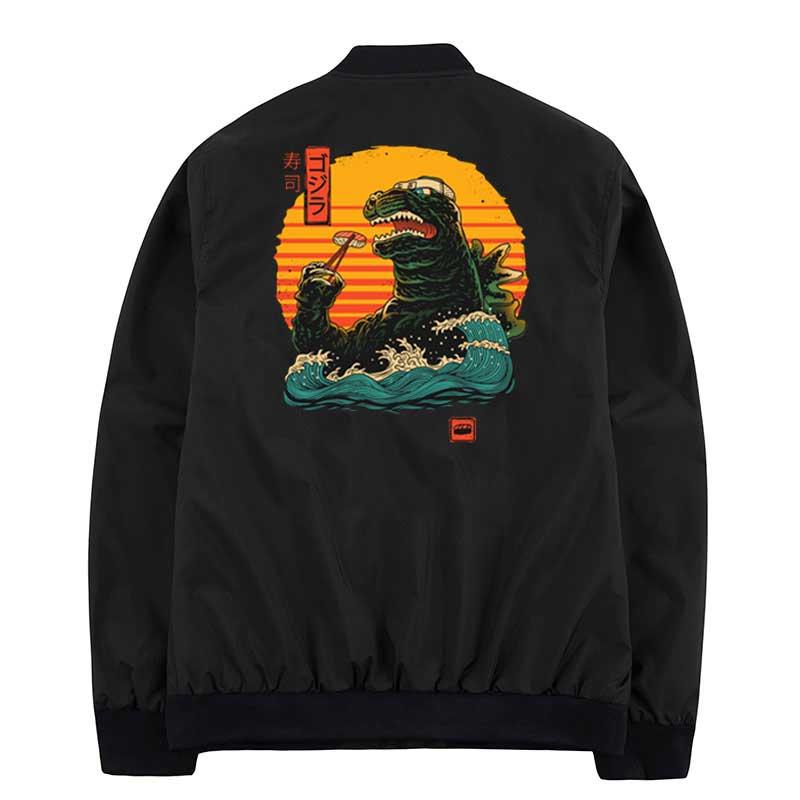King Of Sushi Jackets Men Wholesale Coats Hip Hop Windbreaker Streetwear Jacket Winter Men Clothes Plus XS-4XL Jackets Homme