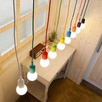SUNLI HOUSE Modern Pendant Lamp Dining Room Living Room Pendant Lamp Indoor Decoration Lamp Silica Gel