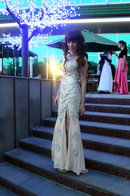 EET-050 הגעה חדשה פופולרי סקסית מתוקה פתוח בגב קומה Lenghth חרוזי קריסטל שמלת ערב 2016