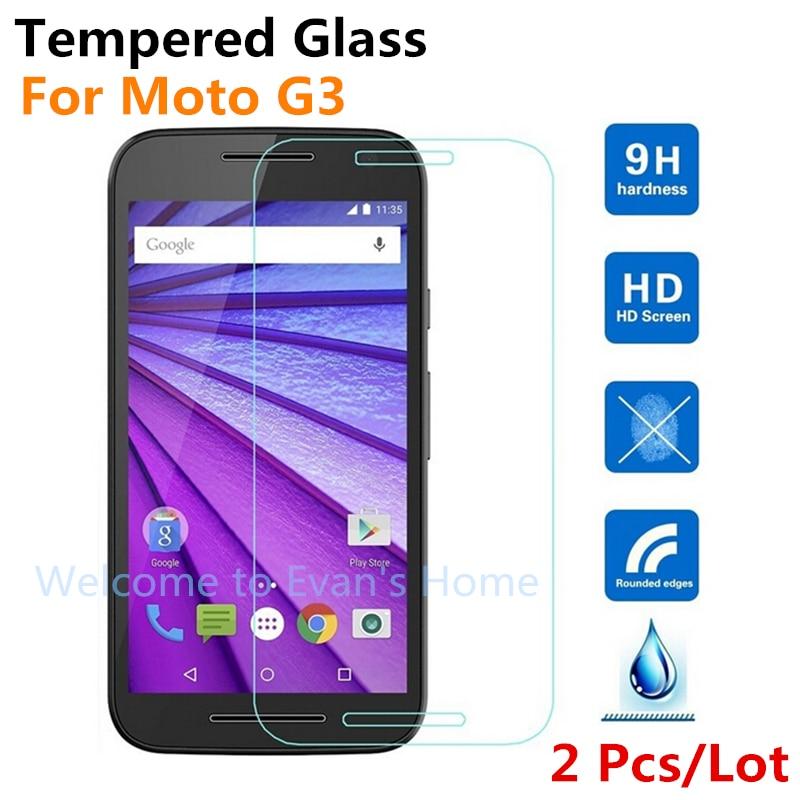2 st Premium härdat glas skärmskydd för Motorola G3 HD - Reservdelar och tillbehör för mobiltelefoner