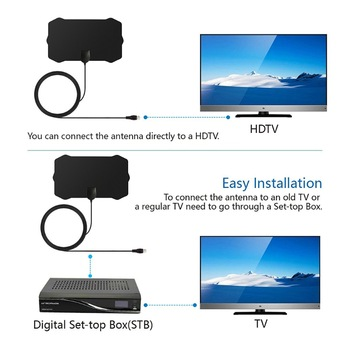 5V 25dB Indoor Digital TV Antenna HDTV 1080p HD 50 Miles Range VHF UHF Signal Amplifier Consumer electronics 1