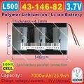 [L500] 3.7 v 7000 mah [4314682] plib; polímero de iones de litio/batería li-ion para tablet pc, banco de potencia, pipo, e-libro, onda, cube, ainol
