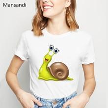 New summer Fashion Cute Snail T-Shirt Women Cartoon print tshirt funny t shirts